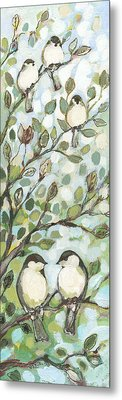 Chickadee Metal Prints