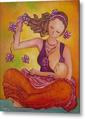 Mums Paintings Metal Prints