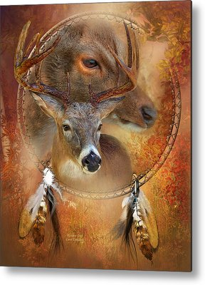 Autumn Scene Mixed Media Metal Prints