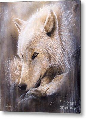Arctic Wolf Metal Prints