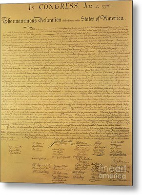 Declaration Of Independence Metal Prints