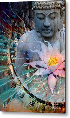 Buddhism Digital Art Metal Prints