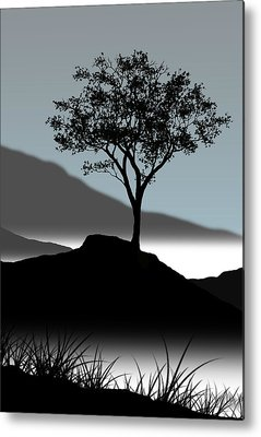 Lone Tree Metal Prints