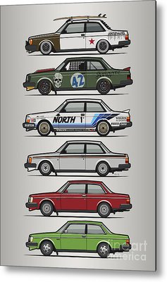 Automotive Art Series Metal Prints
