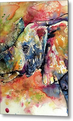 Elephant Metal Prints