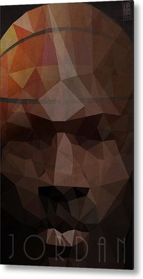 Nba Digital Art Metal Prints