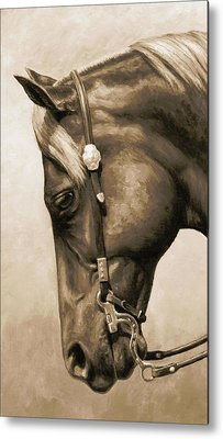 Western Pleasure Horse Metal Prints