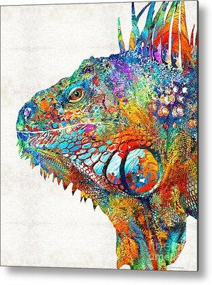 Iguana Metal Prints