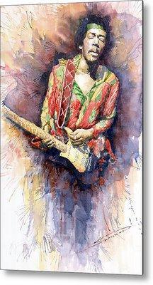 Rock Jimi Hendrix Music Metal Prints