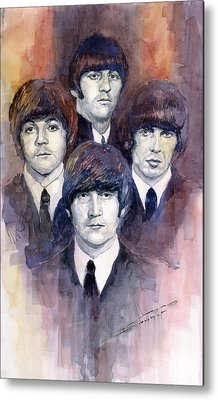 Paul Mccartney Beatles Metal Prints