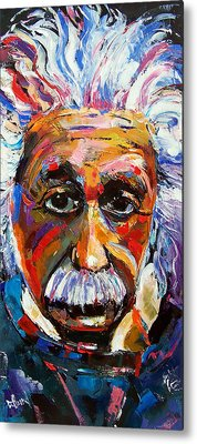 Albert Einstein Metal Prints