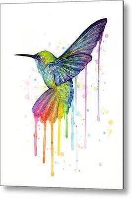 Watercolor Bird Metal Prints
