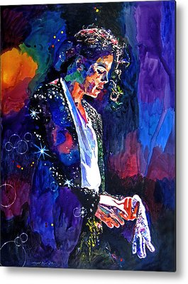 Pop Music King Of Pop Metal Prints