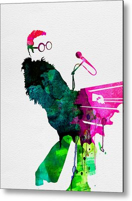 Elton John Rock Music Metal Prints