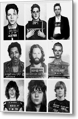 Rock N Roll Music Jimi Hendrix Metal Prints