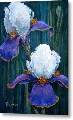 Close Focus Floral Paintings Metal Prints