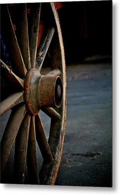 Wagon Wheel Hub Metal Prints
