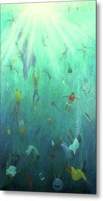 Underwater View Paintings Metal Prints