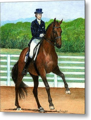 Hanovarian Dressage Horse Metal Prints