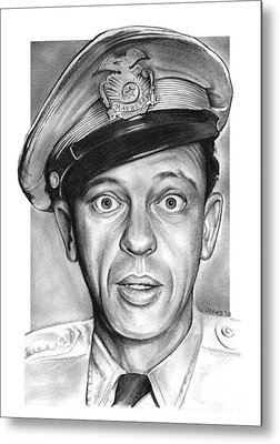 Andy Griffith Show Drawings Metal Prints