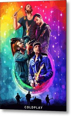 Coldplay Metal Prints