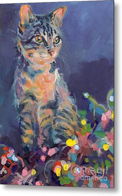 Gray Tabby Metal Prints