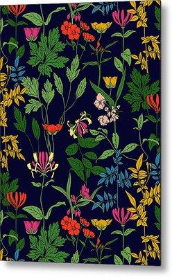 Botanical Digital Art Metal Prints