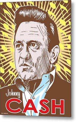 Johnny Cash Digital Art Metal Prints