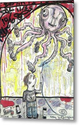 Cartoonist Mixed Media Metal Prints