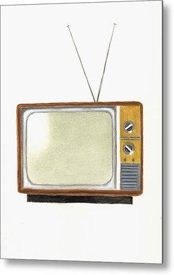 Television Paintings Metal Prints