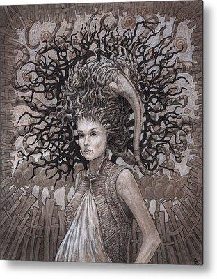 Dress Drawings Metal Prints