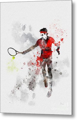French Open Mixed Media Metal Prints