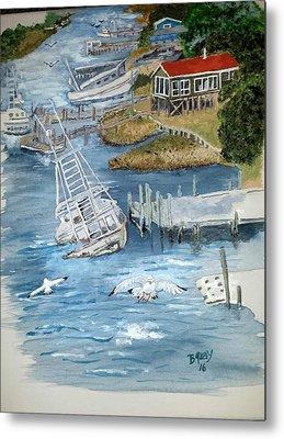 Shrimpboats Metal Prints