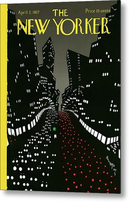 City Lights Metal Prints