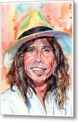 Music Rock Steven Tyler Metal Prints