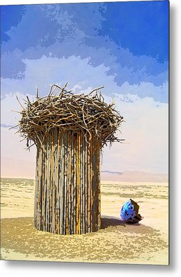 Empty Nest Mixed Media Metal Prints