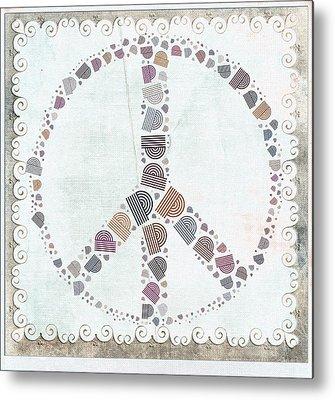 Peace And Love Metal Prints