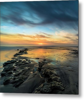 Ocean Sunset Metal Prints