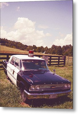 Barney Fifes Police Car Metal Prints