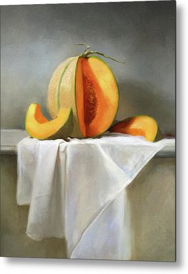Cantaloupe Metal Prints