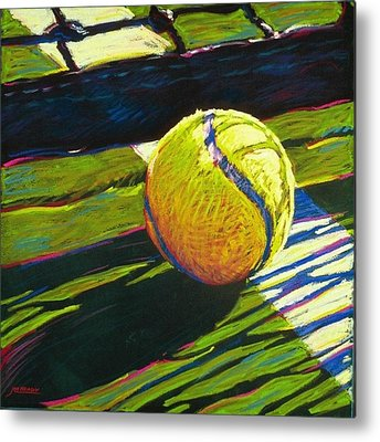 Tennis Paintings Metal Prints