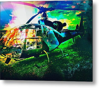 Helicopter Metal Prints