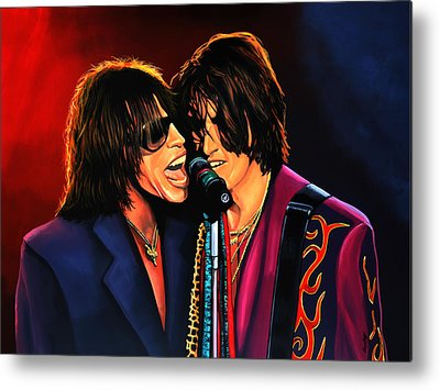 Steven Tyler Metal Prints