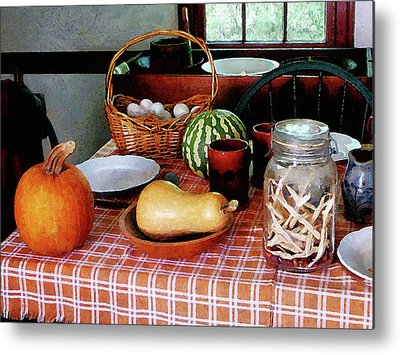 Checkered Tableclothes Metal Prints