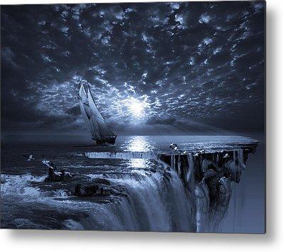 Yacht Digital Art Metal Prints