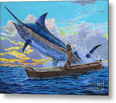 Marlin Azul Metal Prints