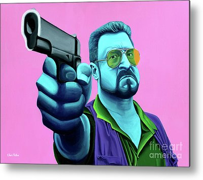Lebowski Paintings Metal Prints
