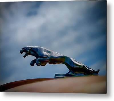 Vintage Hood Ornament Digital Art Metal Prints
