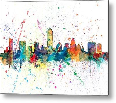 Austin Skyline Metal Prints