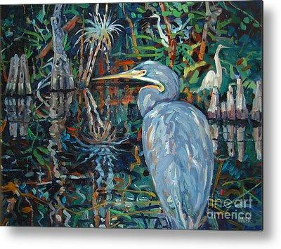 Blue Herron Paintings Metal Prints